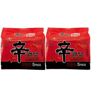 Nong Shim Shin Ramyun Ramen Noodle Soup 120g (Pack of 10) Halal