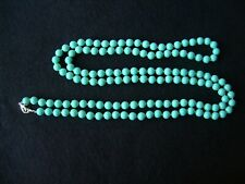 """TURQUOISE BEAD NECKLACE 28"""" Hang"""