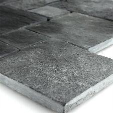 Schiefer Mosaik Fliesen Schwarz Römischer Verband