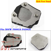Side Kick Stand Kickstand Extension Puck Foot Plate Pad For BMW F800GS F650GS