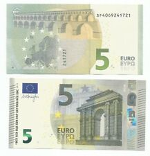 NOTA BILLETE DE 5 EURO, NUEVO MODELO,  año 2013 DRAGHI  SF  ITALIA UNC