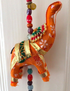 Chime decoration colourful door hanging Indian 5 ELEPHANT bell ethnic hippy