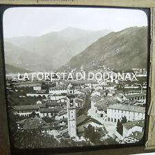 FOTO ANTICA LANTERNA MAGICA COMO PANORAMA 1870-80