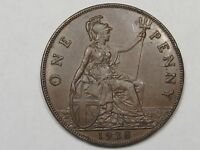 XF 1928 Great Britain Penny.  #10