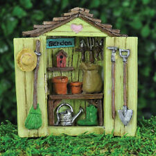 Fiddlehead Fairy Garden - FAIRY HOME ACCESSORIES - Garden Shed Opening Doors