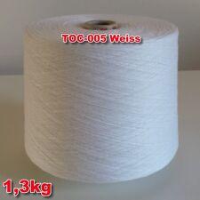 005 Weiß TVU Ocean Nm 30/2  Baumwolle Acryl Strickgarn Häkelgarn Garn Kone