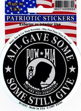POW-MIA - ALL GAVE SOME - SOME STILL GIVE - FOIL STICKER