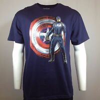 Men's CAPTAIN AMERICA T-shirt - X Large MARVEL COMICS WINTER Authentic AVENGERS