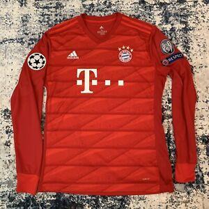 Bayern Munich 19/20 home jersey Davies 19 with champions league badge
