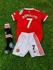 Ronaldo Manchester United Kids Jersey Football Kit Socks Shirt Shorts Set BNWT