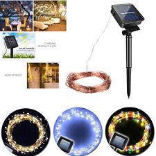 LED Solar Fairy Light Copper String Wire Strip Lighting Party Garden Yard Decor