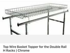 """Wire Basket Topper for Double Rail Clothing Rack - 52 ½ """"L x 22 ½� W"""
