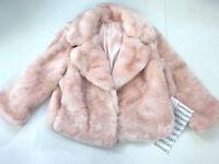 Victoria's Secret Soft Faux-fur Coat Size L Sugar Rose