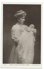 ROYALTY - QUEEN of SPAIN with ROYAL INFANT Rotary  Real Photo Postcard