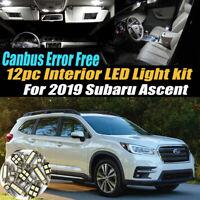 12Pc 2019 Subaru Ascent CANbus Error Free Interior LED White Light Bulb Kit