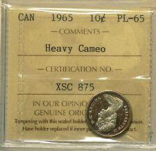 1965 Canada 10 Cents ICCS Heavy Cameo  PL 65 #9086