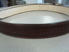 #114 SIZE 48 CHISOM RED RANGER BELT Offered by BLUEHORN CUSTOM LEATHER