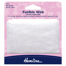 Fusible Web, Hemming, Badges & Patches. Ideal for applique 58 x 50cm