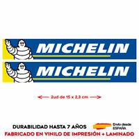 2 X VINILO ADHESIVO PEGATINA STICKER MICHELIN MOTO TUNING RAGING RALLY DECAL GP