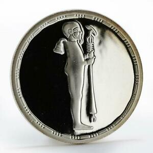 Egypt 5 pounds Standing God Ptah of Memphis right proof silver coin 1994