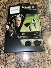 Philips ActionFit Sports Reflective In-Earphones (SHQ1200), White, NIB
