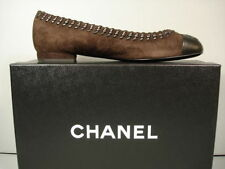 CHANEL Women's (0 to 1/2 in.) Leather Flats & Oxfords