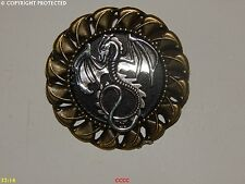 Steampunk jewellery badge brooch silver dragon Game of Thrones Harry Potter larp