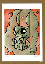 Joe Ledbetter Signed 5x7 Mutant Bunny Giclee Print AP LE 6/16 AUTOGRAPHED RARE