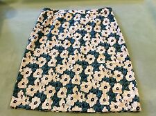 Who What Wear  spring Floral Skirt Pleats in back Size 16 NWT side zip