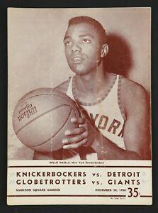 1958 Harlem Globetrotters New York Knicks Program w/ Wilt Chamberlain