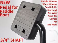 """NEW Pedal Paddle Boat Replacement Foot Pedals 3/4"""" Shaft Paddle Wheeler King"""