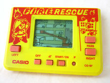 80s CASIO FIRE RESCUE HANDHELD GAME WATCH RETRO VINTAGE JEU COMPUTER *WORKS*