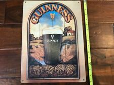"Large Guinness Wheat Field Tin Beer Sign 15""x11"" Dublin Ireland Man Cave"