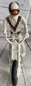 Vintage Ideal Evel Knievel Stunt Cycle Chrome W/ Figure Helmet/Belt L@@K!