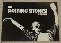 Rolling Stones concert program 1972 Exile On Main Street STP tour book Jagger