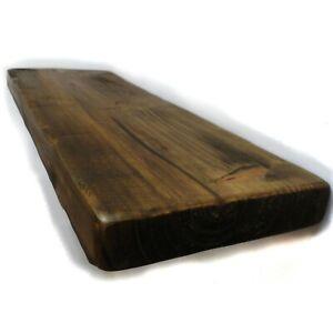 Floating Rustic Scaffold Board Shelf Chunky Handmade Bespoke Wooden Shelves