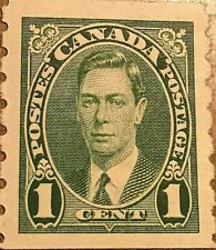 CANADA STAMP 1 CENTS GEORGE VI GREEN