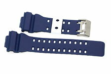 16MM BLUE WHITE RUBBER WATCH BAND CASIO GSHOCK GA300 GA100 GW8900 GA120 GD110