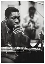 More details for john coltrane and miles davis reproduction photograph poster wall art print jazz