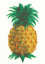 Ceramic Decals Single Yellow Pineapple Fruit 1.75 inch