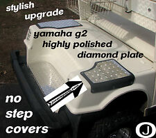 Yamaha G2/G9 Golf Cart Highly Polished Aluminum Diamond Plate NO STEP COVERS