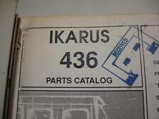 IKARUS  PAT articulated 436 Coach Bus PARTS CATALOG Manual List Service Shop OEM