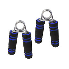2x Heavy Steel Exercise Fitness Body Building Hand Fore-Arm Wrist Grip Pair Blue