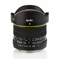 Opteka 6.5mm Fisheye-objektiv f Canon EOS 7D 6D 5D 80D 70D 60D T6i T6s T6 T5i T5
