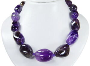 Scnoene Necklace from The Gemstone Amethyst Very Large Nuggets