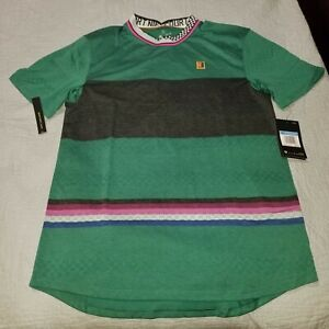 Nike Court Challenger Dri Fit Top Agassi Green AJ8183-340 Size M