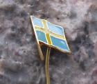 Swedish National Day Sweden Flag Yellow Scandinavian Nordic Cross Pin Badge