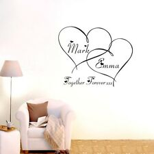 Custom Personalised Name Love Heart Wall Art Sticker Vinyl Decal Stickers DIY