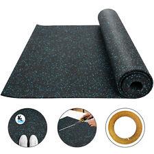 Rubber Flooring Rolls 3.6'x10.2' 9.5mm Equipment Mat High Density Exercise & Gym