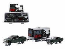 GREENLIGHT HITCH & TOW STEVE McQUEEN BULLITT MUSTANG 1:64 TRACK & TRAILER 51007